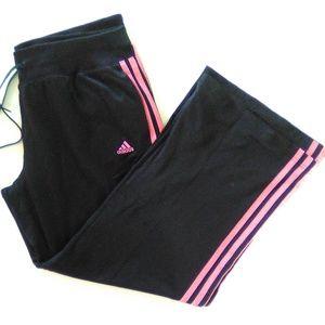 adidas track pants xl black pink pockets